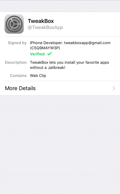 Install TweakBox App on iPhone/iPad