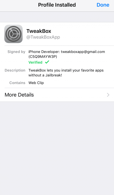 Tweakbox on iOS