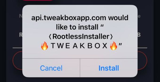 Tap on Install Rootless Installer on iPhone/iPad