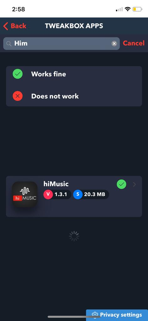 hiMusic on iOS - Download hiMusic on iPhone/iPad (TWEAKBOX APP)