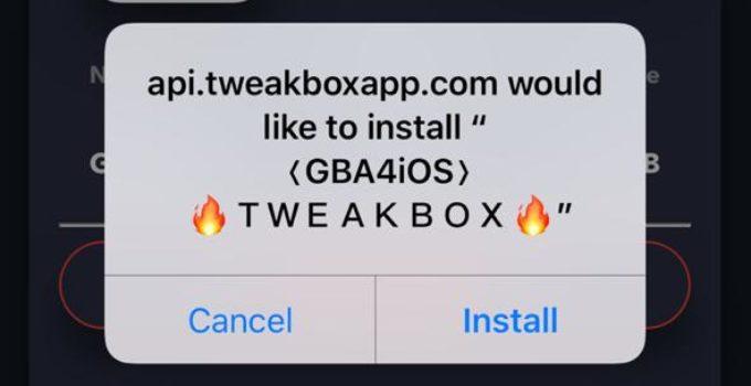 Download GBA4iOS on iOS (iPhone/iPad) using TweakBox