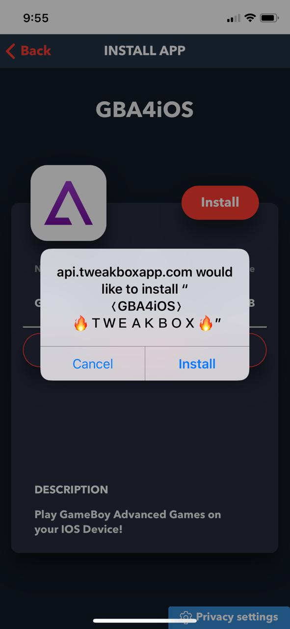 latest gba4iOS on iOS download