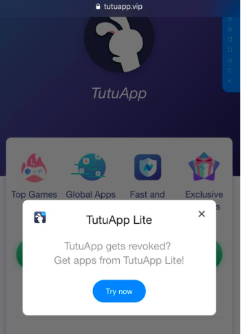 Latest TuTuApp Lite App Install on iOS
