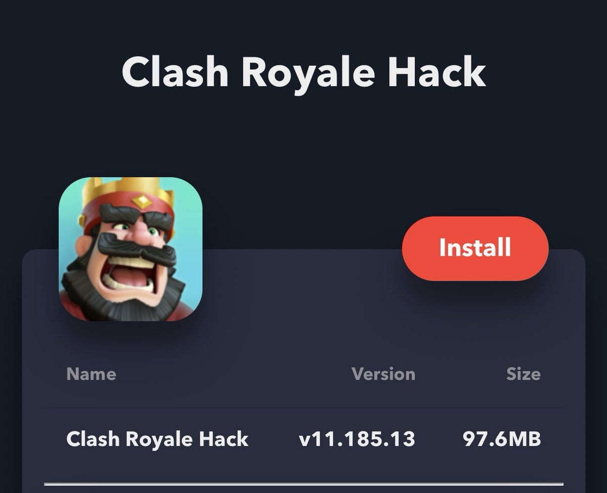 clash royale hack on iOS using Tweakbox